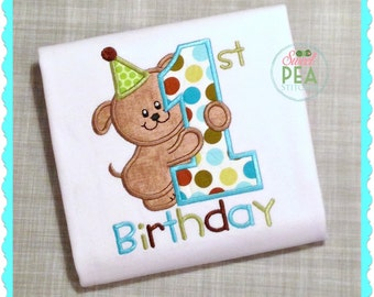 1st Birthday Shirt - First Birthday - Boys Birthday - Girls Birthday -  Puppy Party - Doggy Birthday
