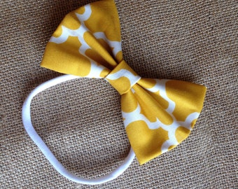 Baby bow - Mustard yellow