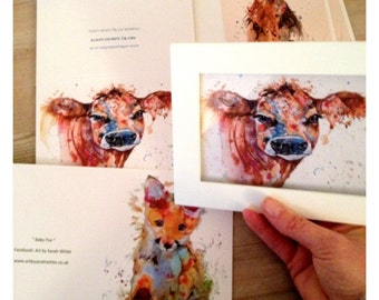 Cards, cow, hare or fox cub