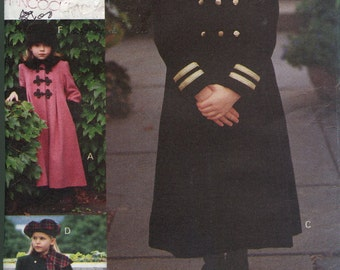 1990s Girls Coat Pattern  Vogue 8864  Toddler Coat Pattern  Jacket Pattern  Vintage Childrens Sewing Patterns Size 4-6 uncut