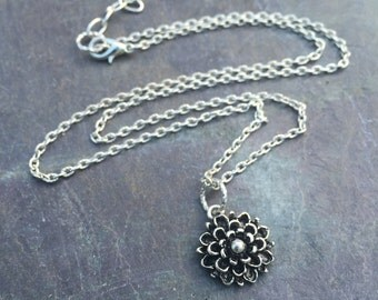SALE Tibetan Silver Flower Pendant Necklace FREE SHIPPING