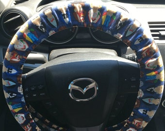 All the Doctors From Dr Who Steering Wheel Cover