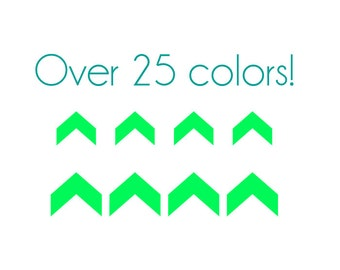 Half Chevron Nail Decals - Vinyl, Custom Color Choice
