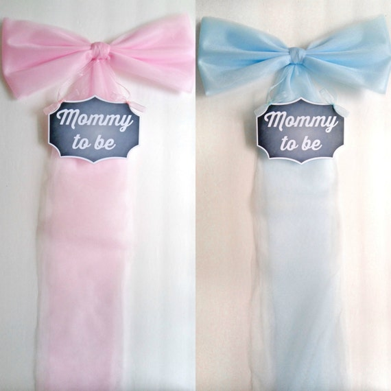 Mommy To Be Sign- Multiple Colors-Baby Shower- Chair Bow