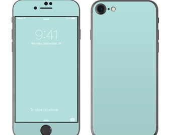 Solid Mint - iPhone 7/7 Plus Skin - Sticker Decal