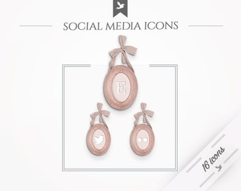"""Social Media Icons """"With Love"""""""
