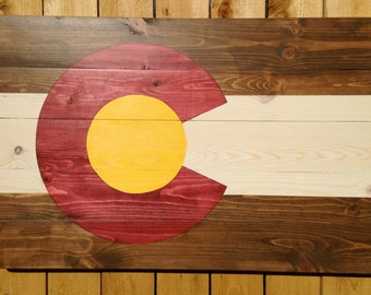 Rustic Colorado Flag Wall Hanging-Small