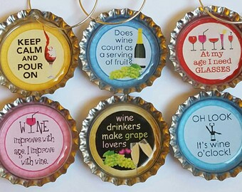 Funny Wine Charms Hostess Gift