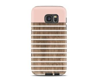 Samsung galaxy s6 case Stripe Samsung galaxy s4 case Pink Samsung s5 case Wood Samsung s3 case cute samsung s7 case, gift idea