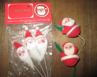 Santa Christmas Picks Vintage
