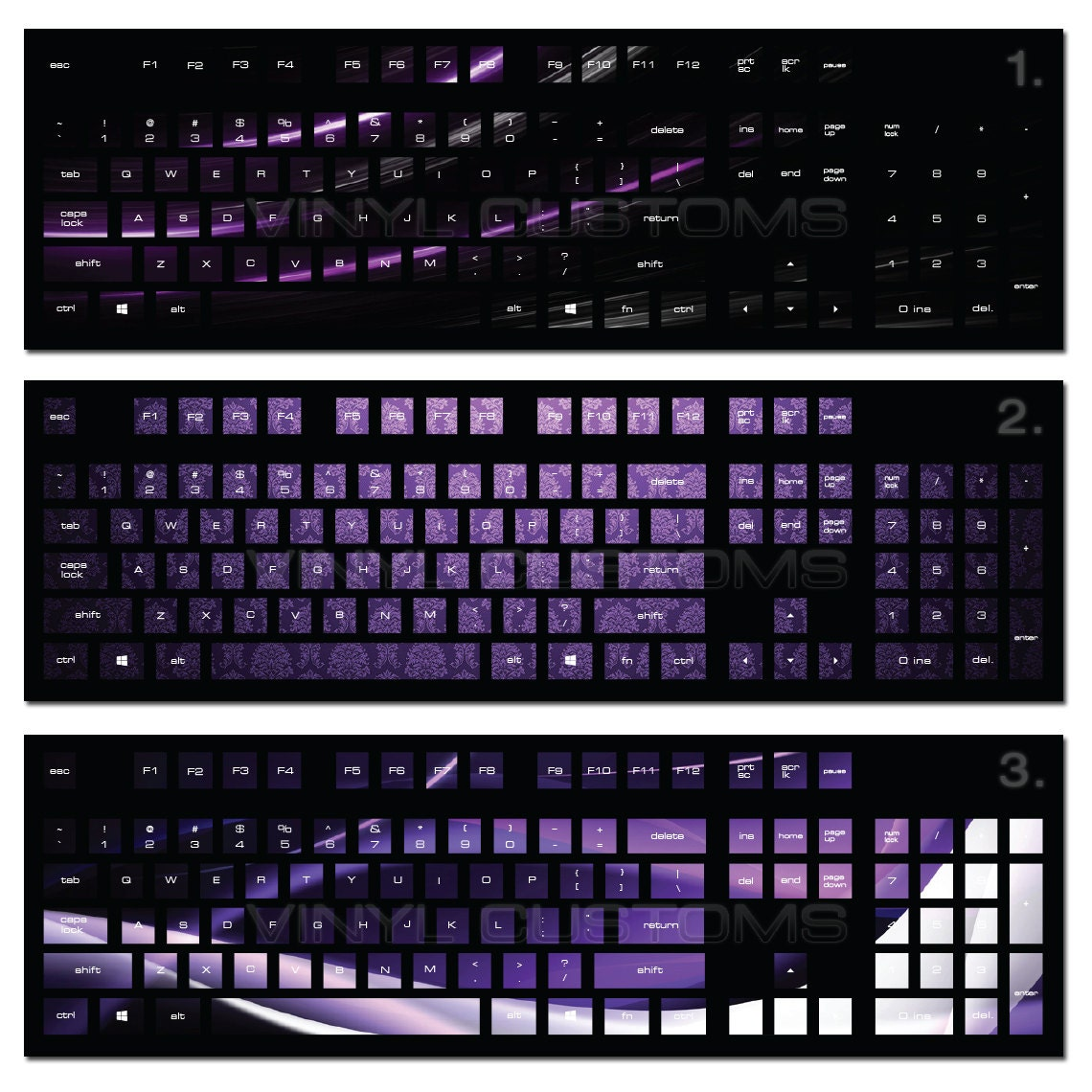 Mechanical Keyboard Vinyl Decal Kit Cherry Mx Keycaps Pc Vinyl