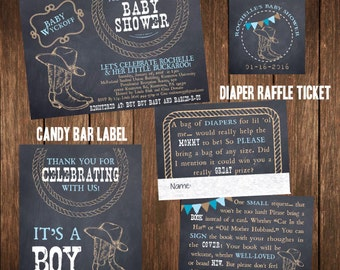 Western Baby Shower or Birthday Printable Invitation