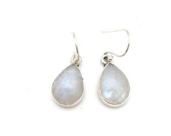 Pear-shaped Moonstone Earrings