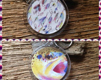 Custom acrylic keychain, Double sided acrylic keychains with initials: trout fishing monogrammed keychains, sailfish and tarpon, mahi mahi