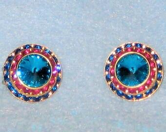 Vintage 70's Clip On Earrings.