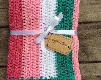 Crochet Baby Blanket, Baby Afghan, Baby Blanket, Stroller cover
