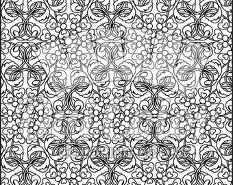 Pattern No.26 from Doodles Coloring Book (Volume 1)