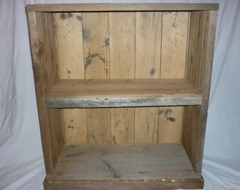 Reclaimed Barn Wood Book Case Display Cabinet Base