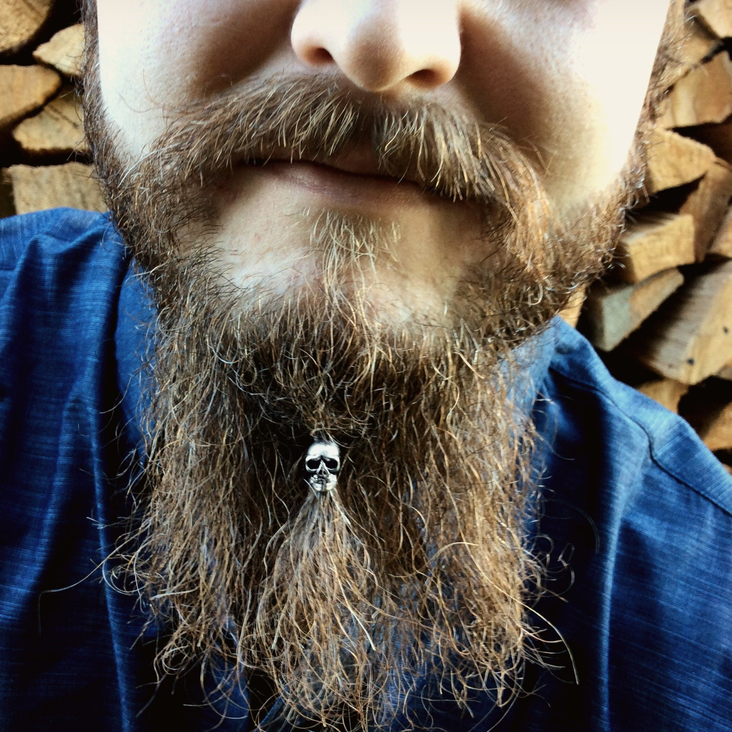 Beard Bead Kit 'Shrunken Head' STAINLESS STEEL beard rings ...