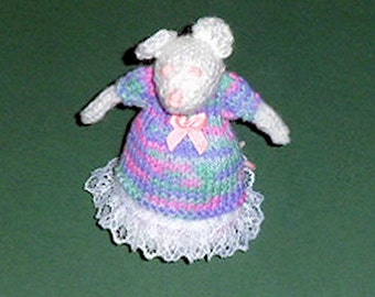 MRS MOUSE knitted Toy