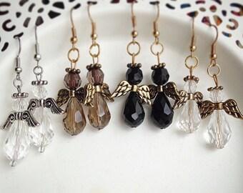 Angel Crystal Beaded Earrings - choose color
