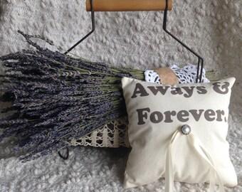 Rustic Ring Bearer Pillow - Lavender Sachet, Wedding Pillow