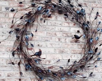 """Large Iron Twig Wreath 52"""""""
