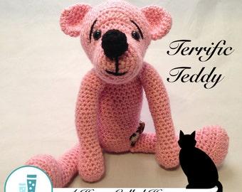 Terrific Teddy - Crochet Animal (Amigurumi)