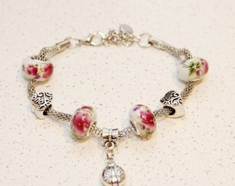 Fashion jewelry bracelet for women, metal and glass beads,  bracelet, jewelry,  bracelet, gift, summer jewelry