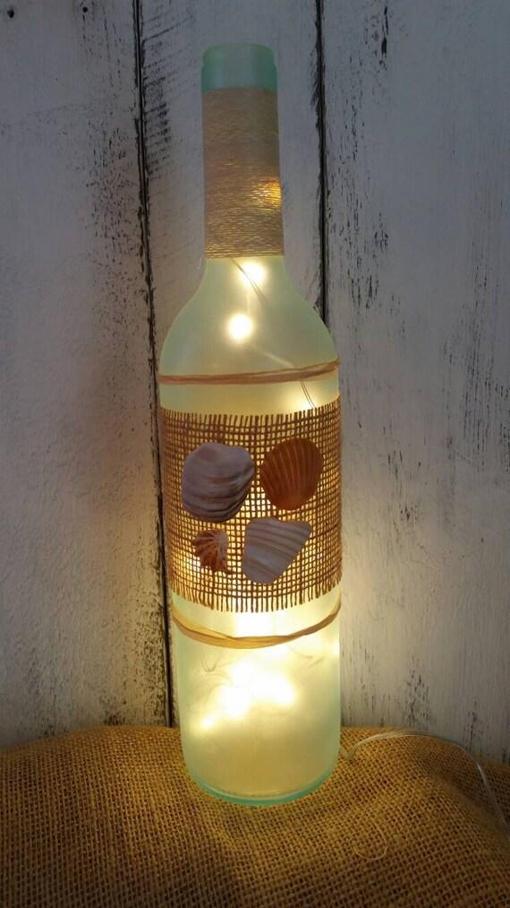 Items similar to Beach themed wine bottle