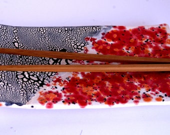 Sushi Plate in Red & Black