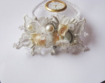 Vintage-Inspired Ivory Bridal Hair Clip-Floral Wedding Hair Accessory