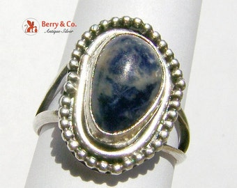 SaLe! sALe! Sodalite Hand Made Ring Sterling Silver