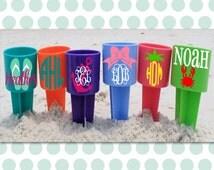Beach Spiker, monogrammed beach spike, sand spike, beach accessory, girls trip, beach cup holder, bachelorette party, personalized