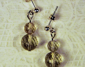 "Cynthia Lynn ""DEW DROPS"" Sterling Silver Green Amethyst Drop Earrings"