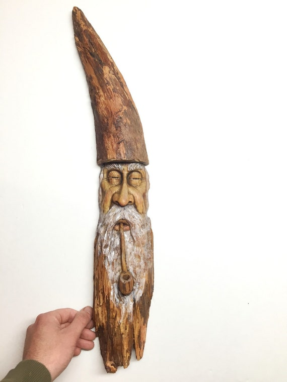 Sale 1 3 Off Wizard Wood Spirit Wood Carving Old Man Hand