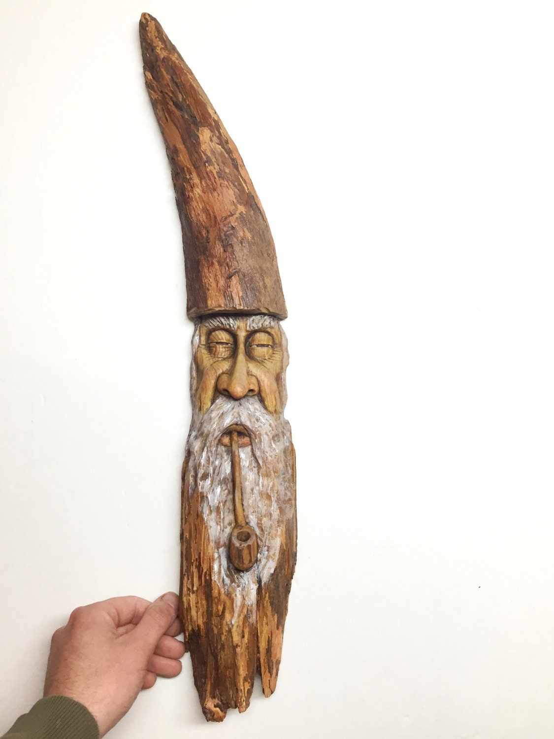 Sale off wizard wood spirit carving old man
