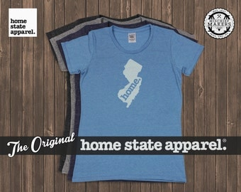 New Jersey Home. t-shirt- Womens Cut
