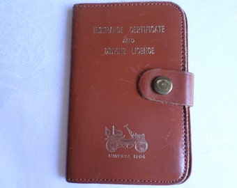 Vintage Leather Driving licence wallet
