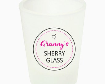 Personalised Name Sherry Shot Glass - Great Christmas or Birthday Gift Present