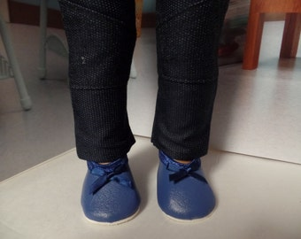 """Blue Flats--Mary Jane-- 18""""  Doll  Shoes--Shown on my American Girl Doll"""