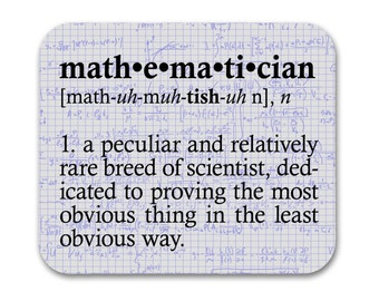 Mathematician Definition Mouse Pad