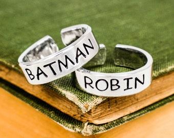 Batman and Robin Rings