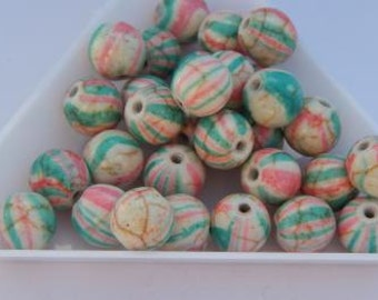 Map Glass Beads