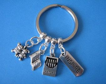 Teacher Keyring Gift for a Teacher Graduate Teacher Gift Teaching Keychain
