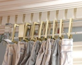 Rectangular Lucite Finial For Curtain Rod (Pair)
