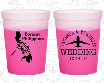 Philippines Mood Cups, Philippines Wedding, Promotional Plastic Mood Cups, Destination Cups, Magenta Mood Cups, Boracay Wedding (187)