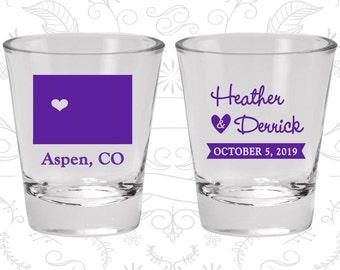Colorado Shot Glass, Colorado Shot Glasses, Colorado Glass, Colorado Glasses, Colorado Glassware (105)