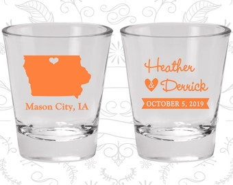 Iowa Shot Glass, Iowa Shot Glasses, Iowa Glass, Iowa Glasses, Iowa Glassware (114)