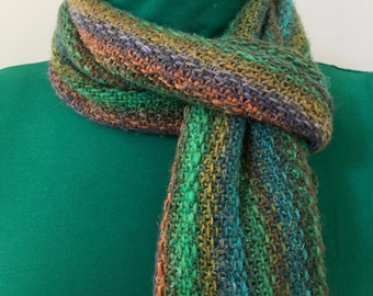 Blue/Green infinity scarf